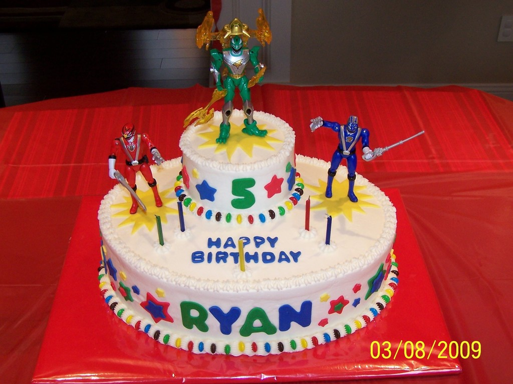 Fabulous Power Rangers Birthday Cake Cakecentral Com Personalised Birthday Cards Veneteletsinfo