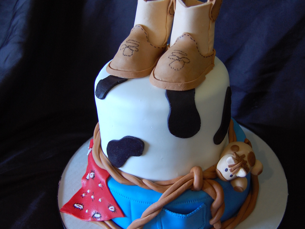 Baby Horse Cowboy Baby Shower Cake Cakecentral Com