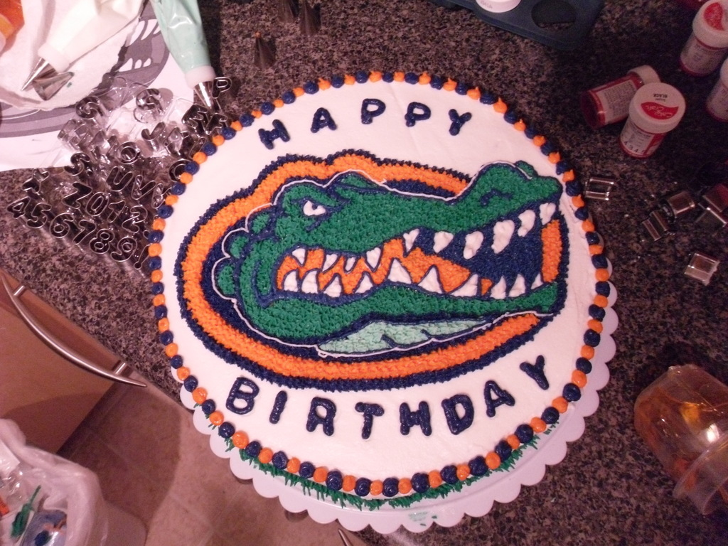 Florida Gators Birthday Cake Cakecentral