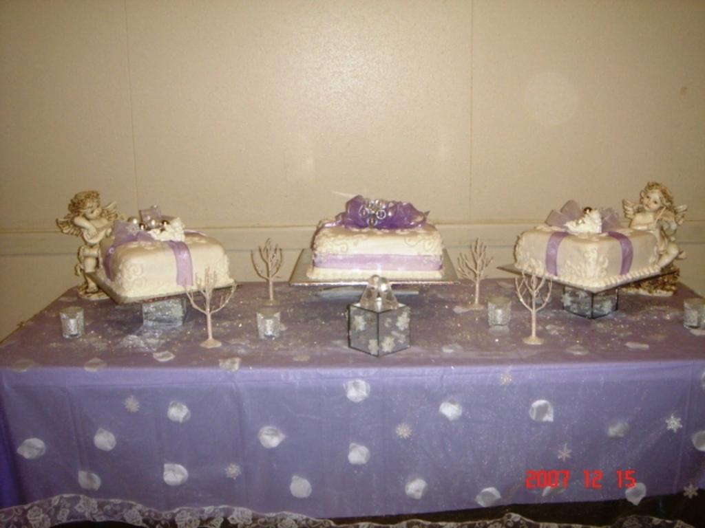 Angels Quinceanera Winter Wonderland Cake Cakecentral Com