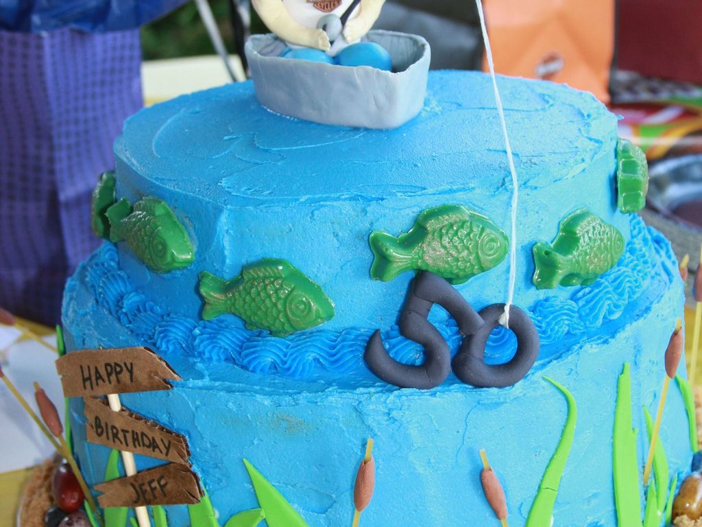 Astounding Fishing 50Th Birthday Cake Cakecentral Com Funny Birthday Cards Online Elaedamsfinfo
