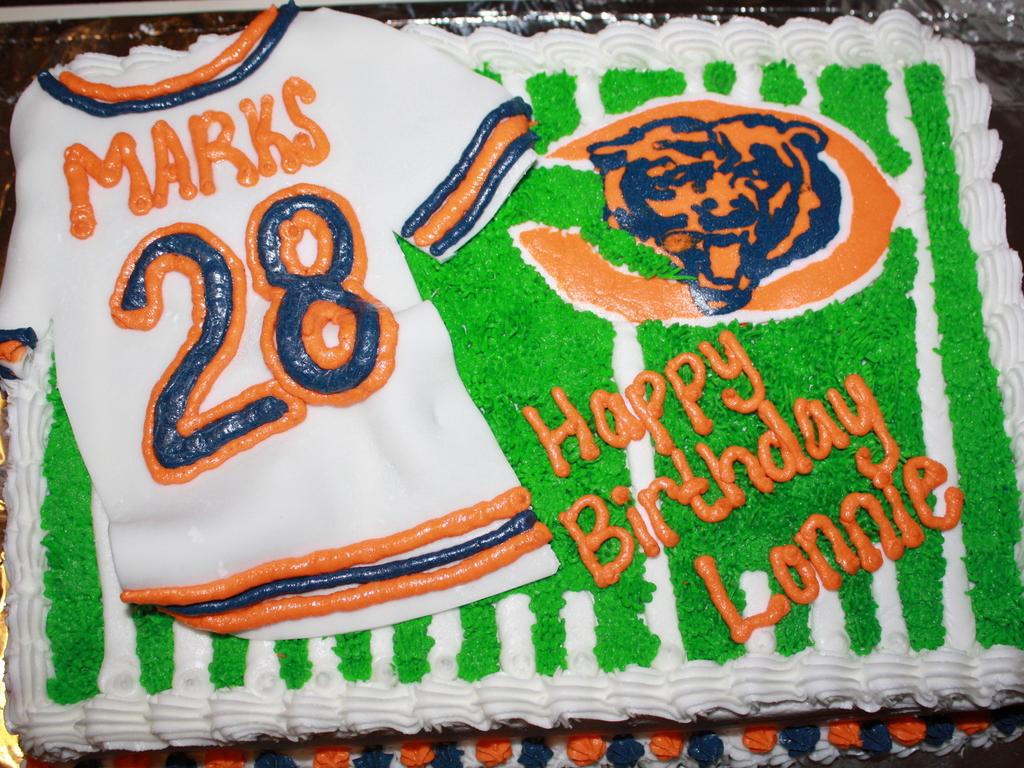 Peachy Chicago Bears Birthday Cake Cakecentral Com Funny Birthday Cards Online Fluifree Goldxyz