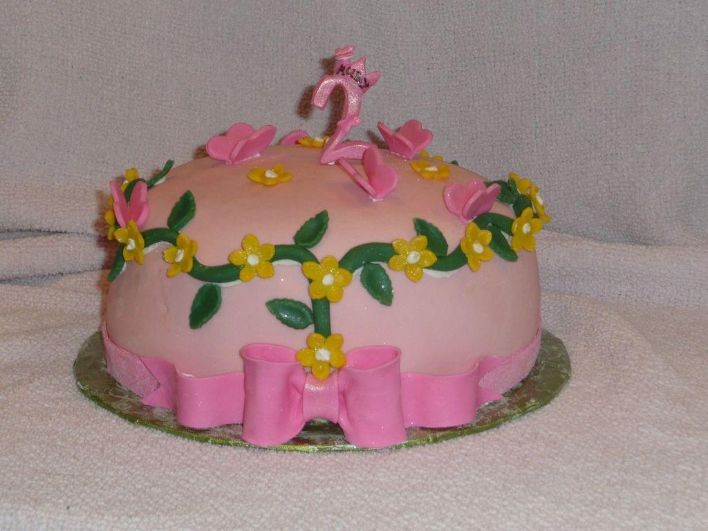 Girl 2nd Birthday Cake Cakecentral