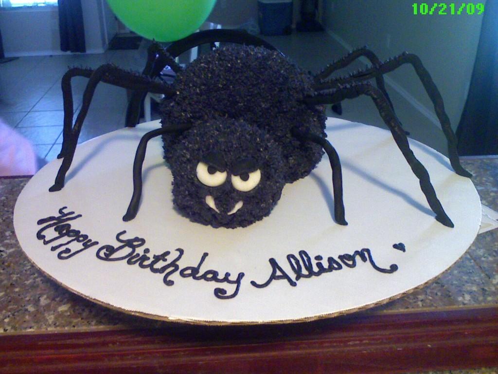 Prime Spider Birthday Cake Cakecentral Com Funny Birthday Cards Online Barepcheapnameinfo