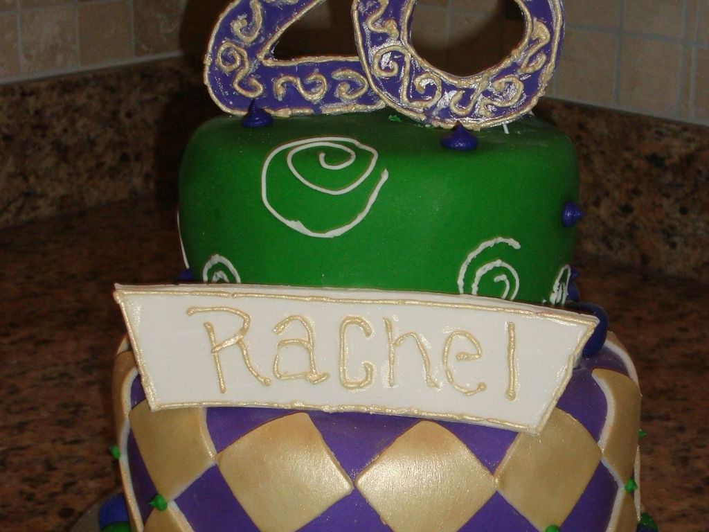Rachels 26th Birthday Cake Cakecentral