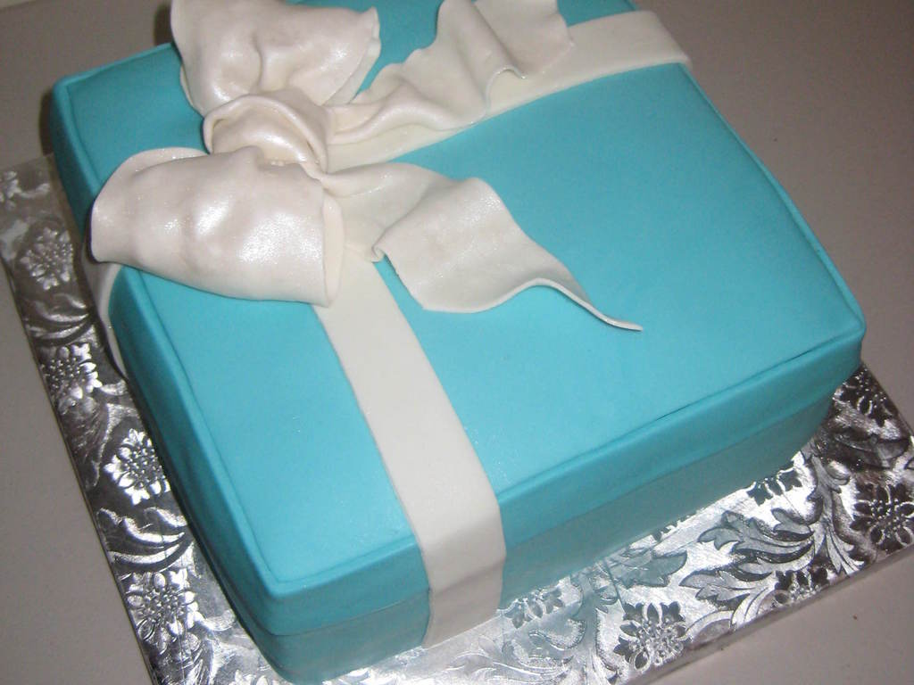 Tiffany And Co Box Within A Box Birthday Cake Cakecentral