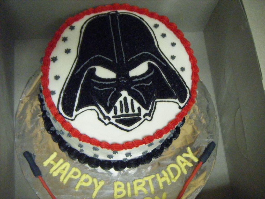 Pleasant Darth Vader Birthday Cake Cakecentral Com Birthday Cards Printable Trancafe Filternl