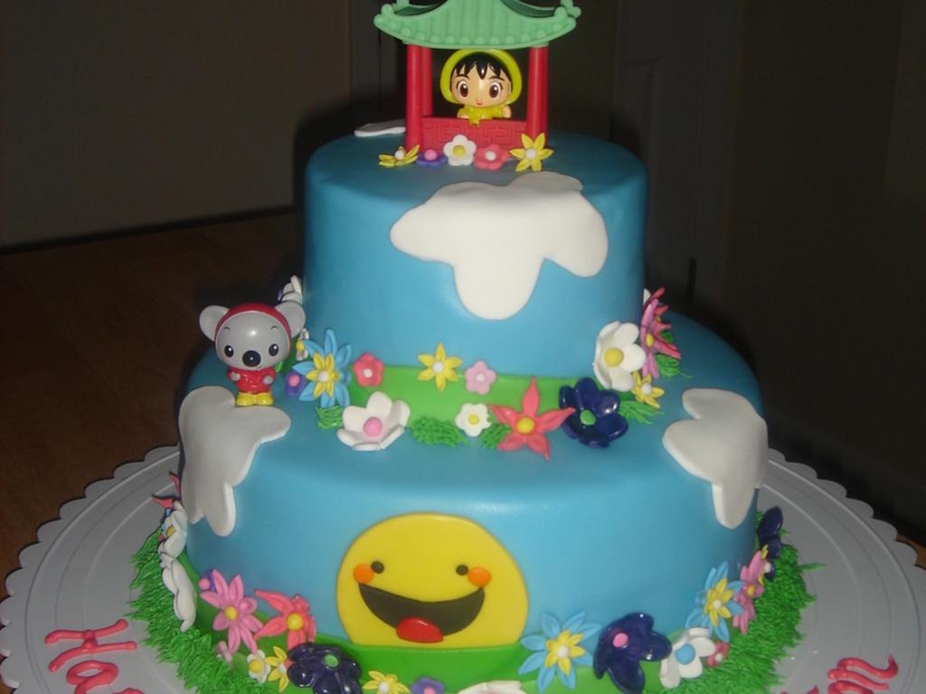 Peytons Kai Lan Birthday Cake Cakecentral