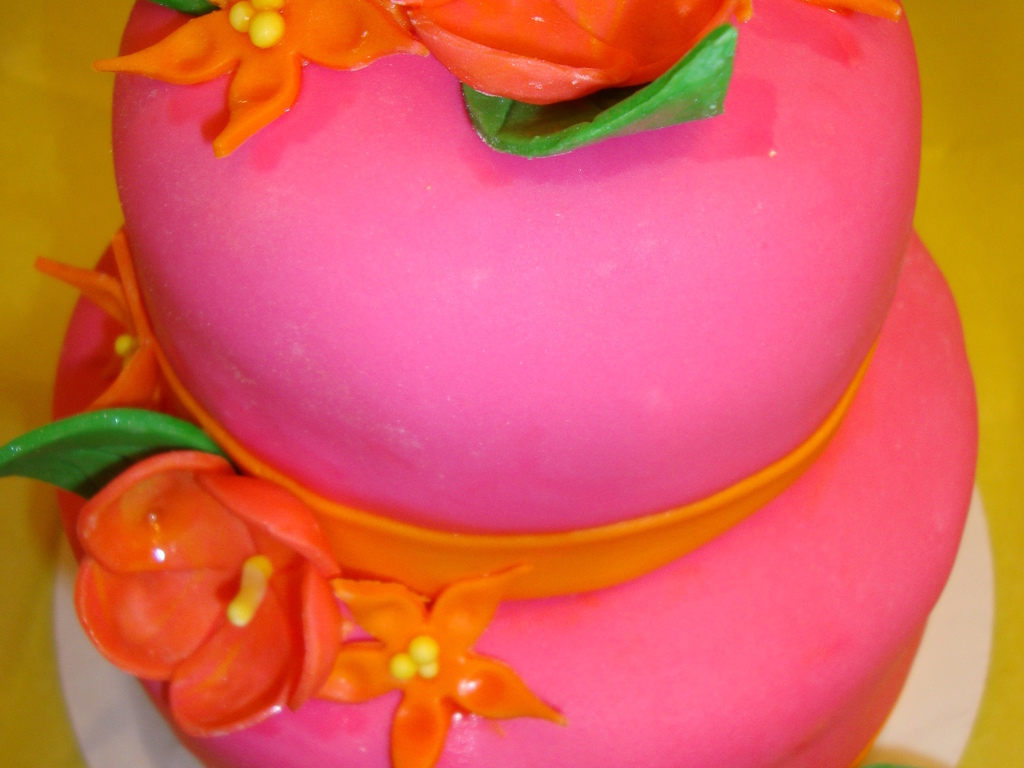 Hawaiian Themed Wedding Shower Cake - CakeCentral.com