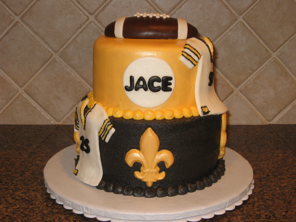 Awesome New Orleans Saints Birthday Cakecentral Com Personalised Birthday Cards Veneteletsinfo