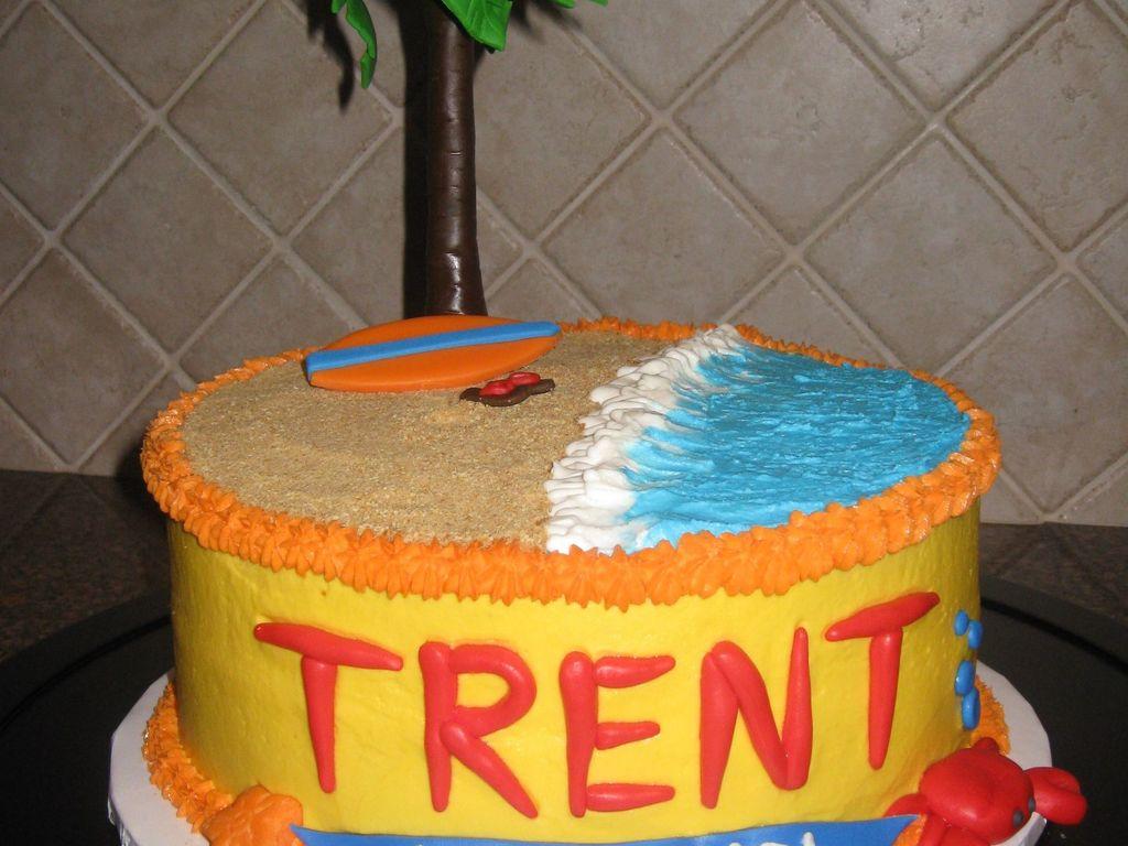 Surfs Up Beach Birthday Cake Cakecentral