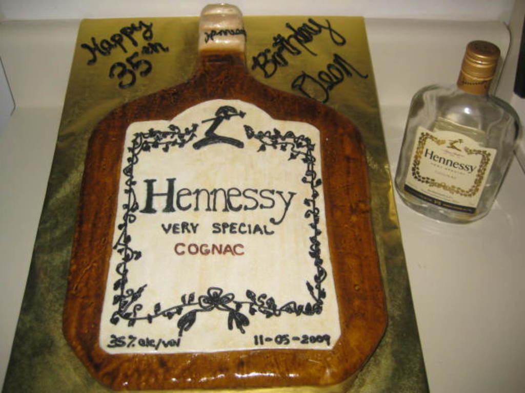 Fantastic Hennessy Bottle Birthday Cake Cakecentral Com Funny Birthday Cards Online Alyptdamsfinfo