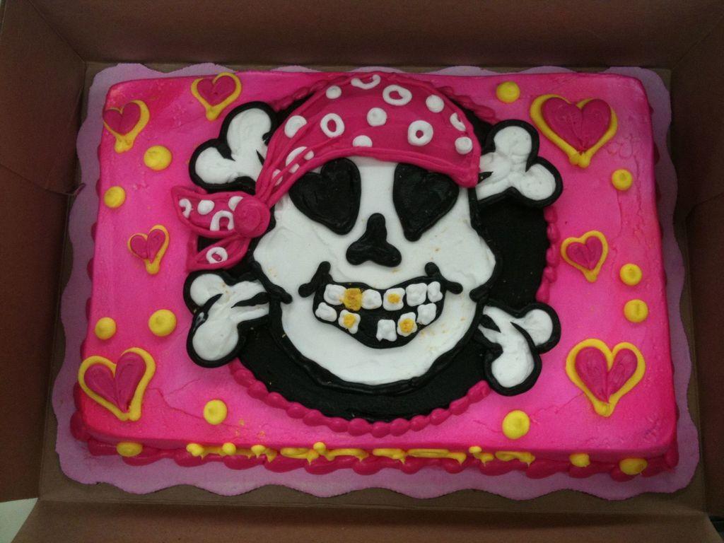 Buy Skull Girl and crossbones cake picture trends