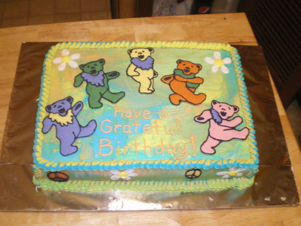 Grateful Dead Birthday Cake - CakeCentral.com