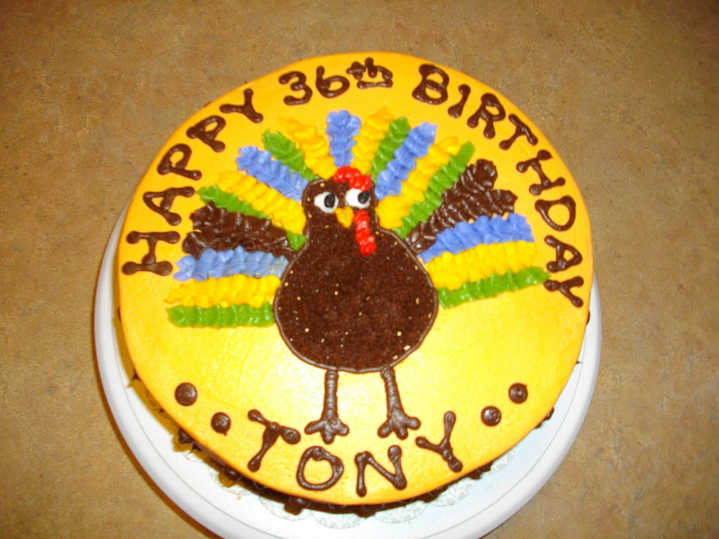 Outstanding Turkey Thanksgiving Birthday Cake Cakecentral Com Personalised Birthday Cards Paralily Jamesorg