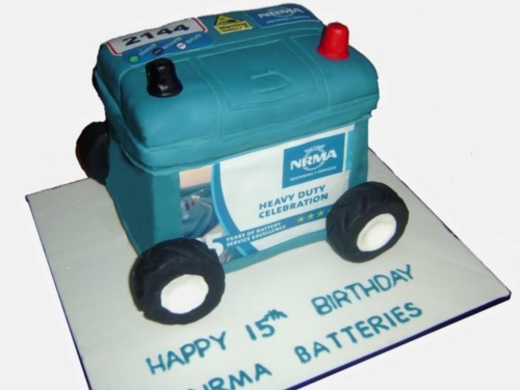 Nrma Car Battery Cake Cakecentral Com