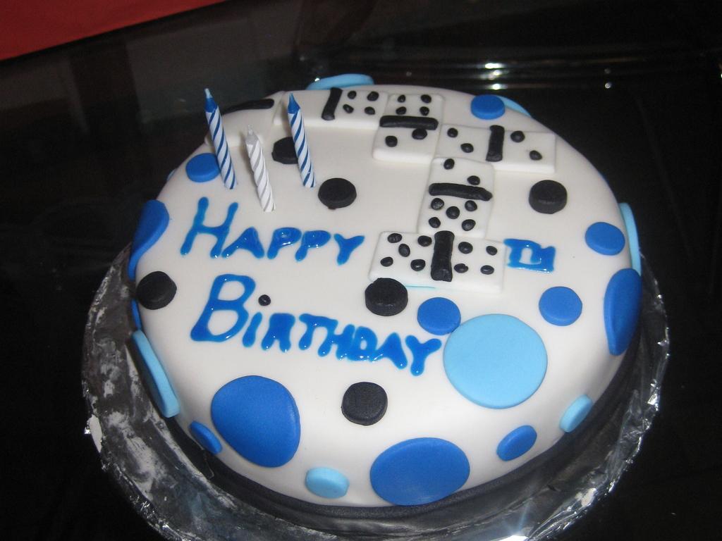 Domino Birthday Cake CakeCentralcom