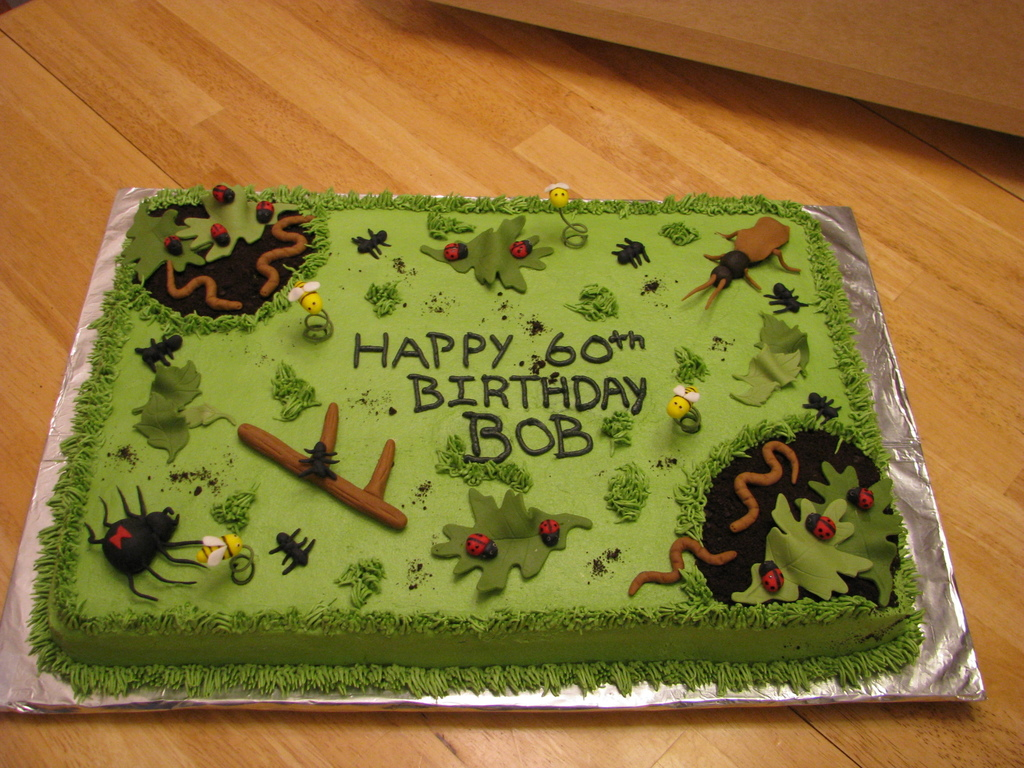 Pleasing Bug Birthday Cake For Exterminator Cakecentral Com Funny Birthday Cards Online Alyptdamsfinfo