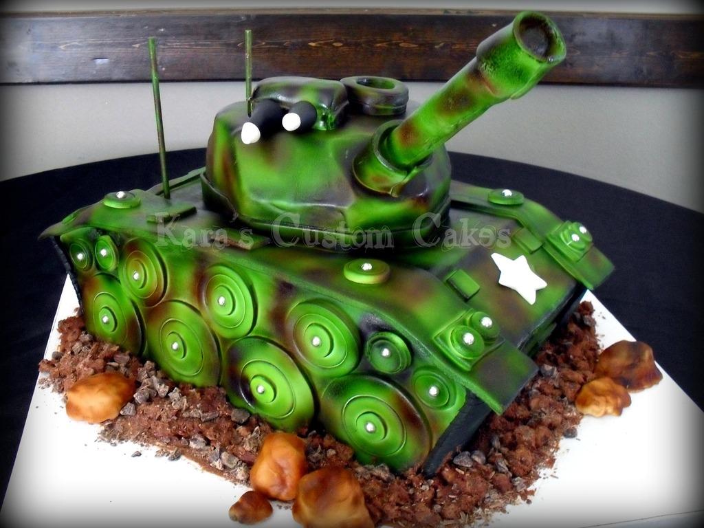 Army Tank Birthday Cake CakeCentralcom