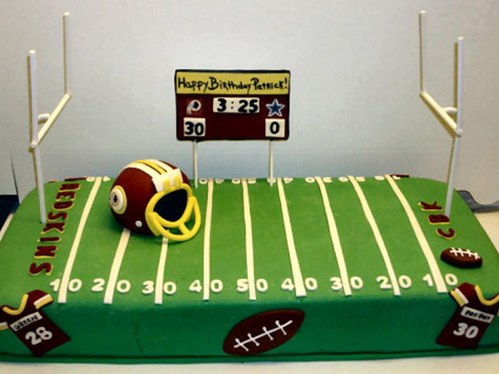 Football Birthday CakeCentralcom