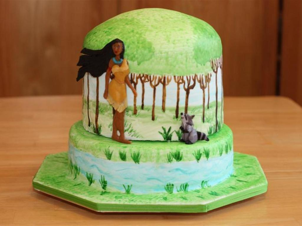 Terrific Pocahontas Birthday Cake Cakecentral Com Personalised Birthday Cards Cominlily Jamesorg