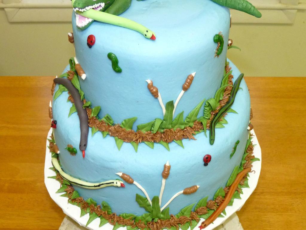 Phenomenal Swampy Alligator Birthday Cake Cakecentral Com Funny Birthday Cards Online Overcheapnameinfo