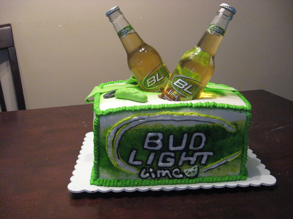 Magnificent Bud Light Lime Cooler Cakecentral Com Personalised Birthday Cards Cominlily Jamesorg