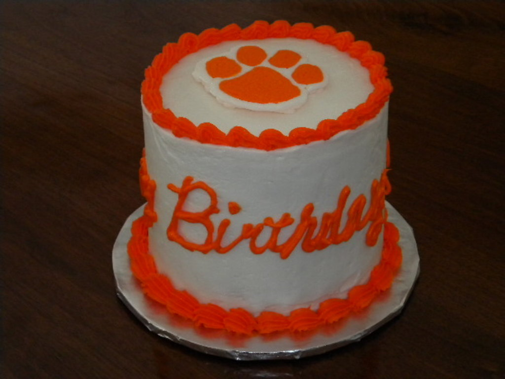 Tremendous Clemson Birthday Cake Cakecentral Com Funny Birthday Cards Online Eattedamsfinfo