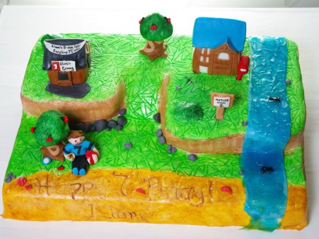 Pleasing Animal Crossing Cake Cakecentral Com Personalised Birthday Cards Veneteletsinfo