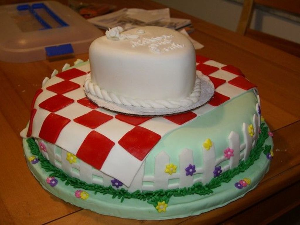 Picnic Cake For Engagement Party Cakecentral Com