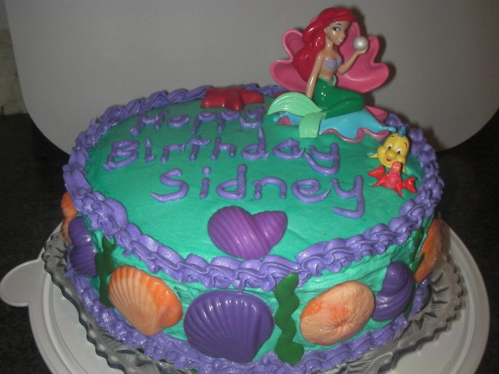 Fantastic Little Mermaid Birthday Cake Cakecentral Com Birthday Cards Printable Opercafe Filternl