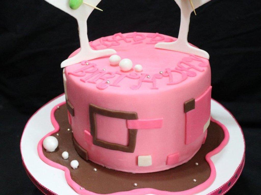 Pink Martini Cake - CakeCentral com