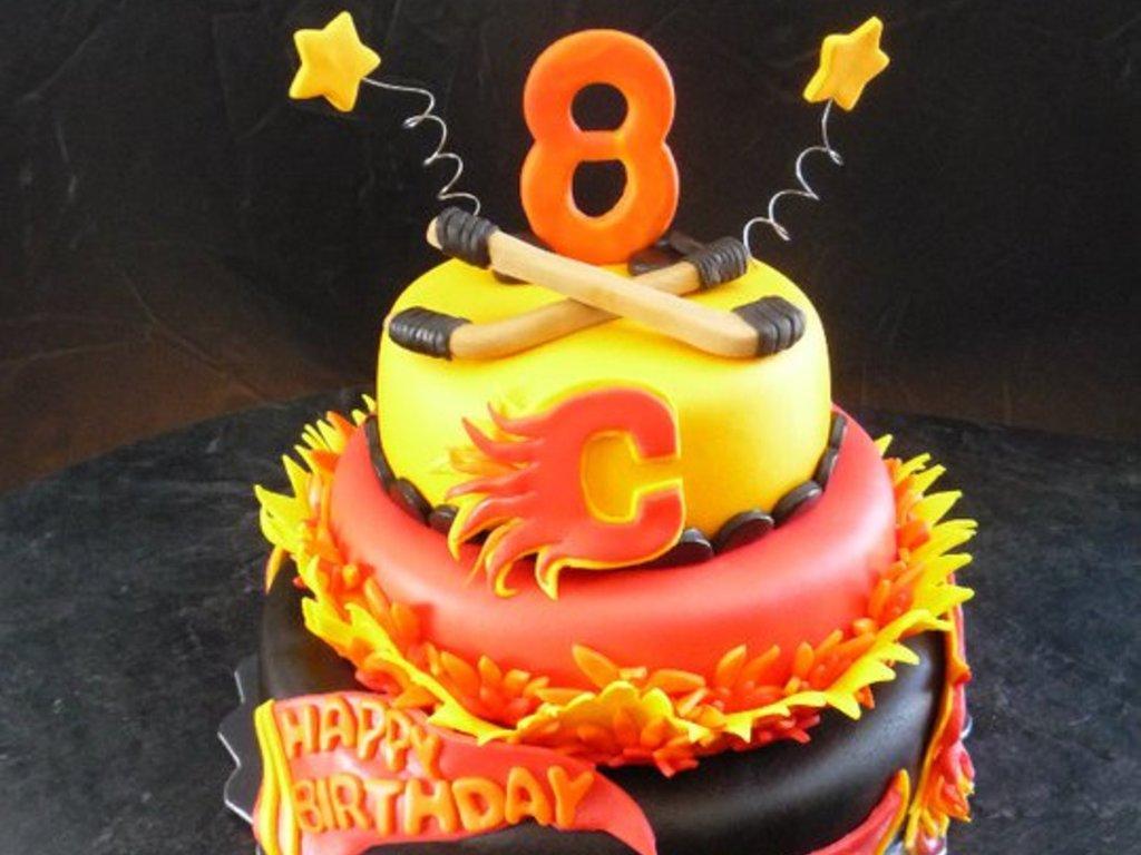 Calgary Flames Birthday Cake - CakeCentral.com