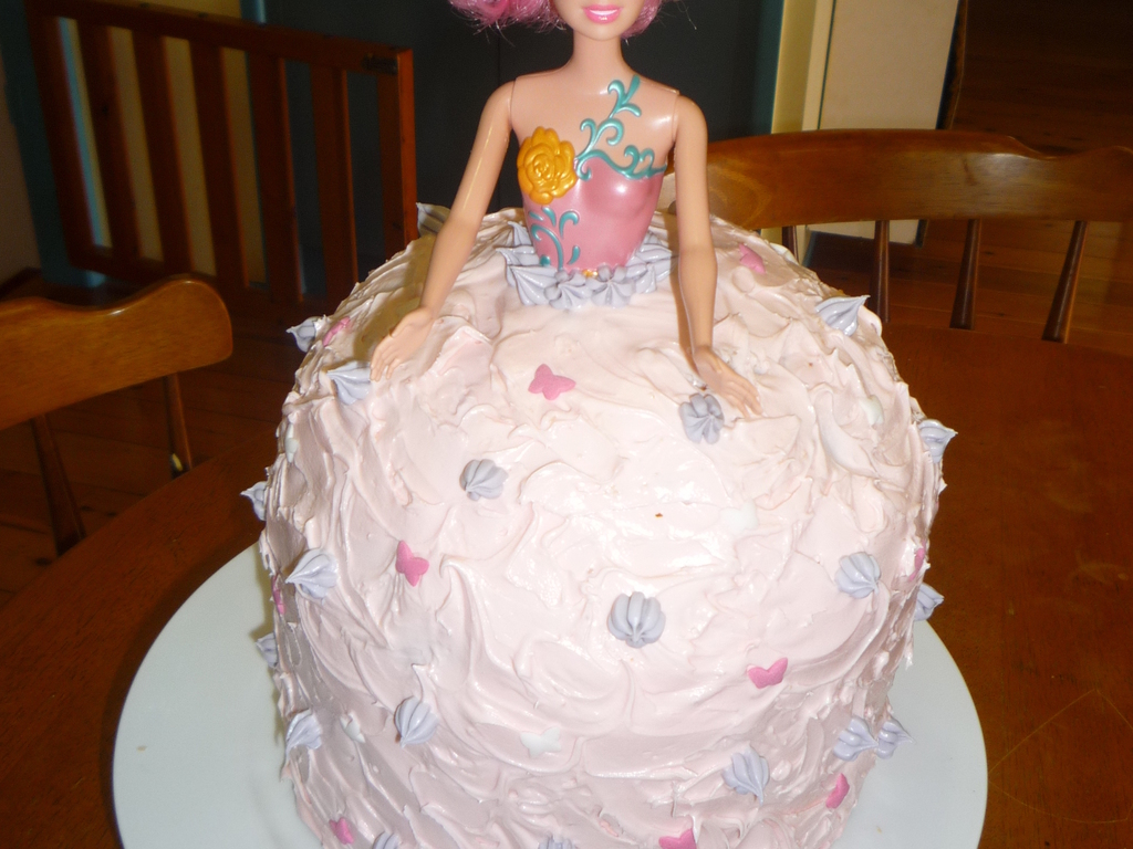 1st Birthday Barbie Doll Cake Cakecentral Com