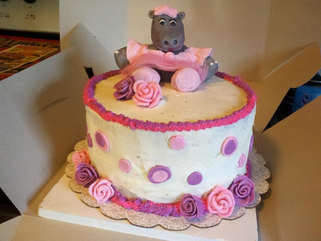 Super Ballerina Hippo Birthday Cake Cakecentral Com Personalised Birthday Cards Akebfashionlily Jamesorg
