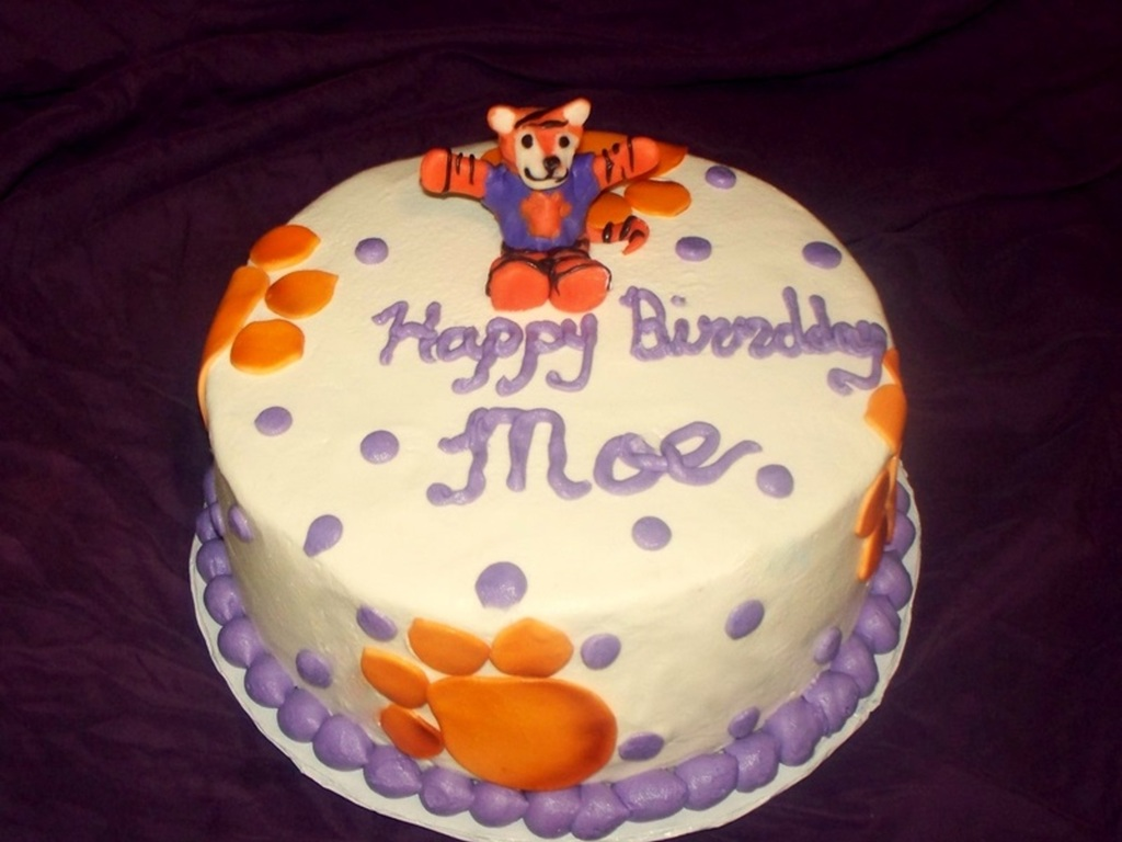 Peachy Clemson Tigers Fan Birthday Cake Cakecentral Com Funny Birthday Cards Online Eattedamsfinfo