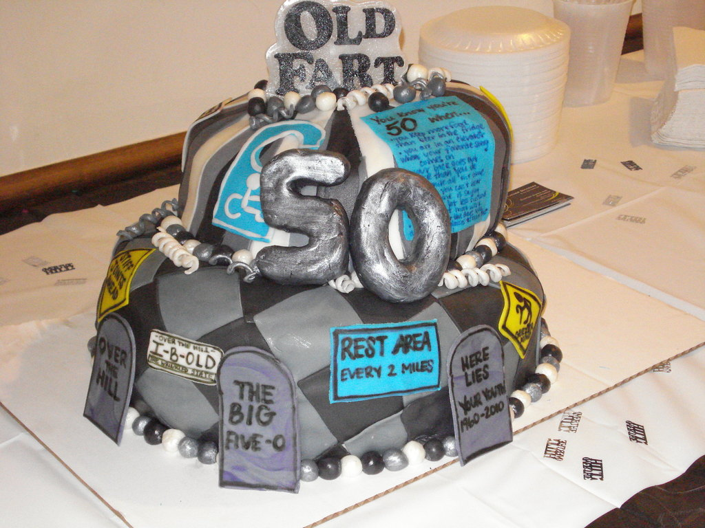 Excellent Over The Hill 50Th Birthday Cake Cakecentral Com Personalised Birthday Cards Beptaeletsinfo