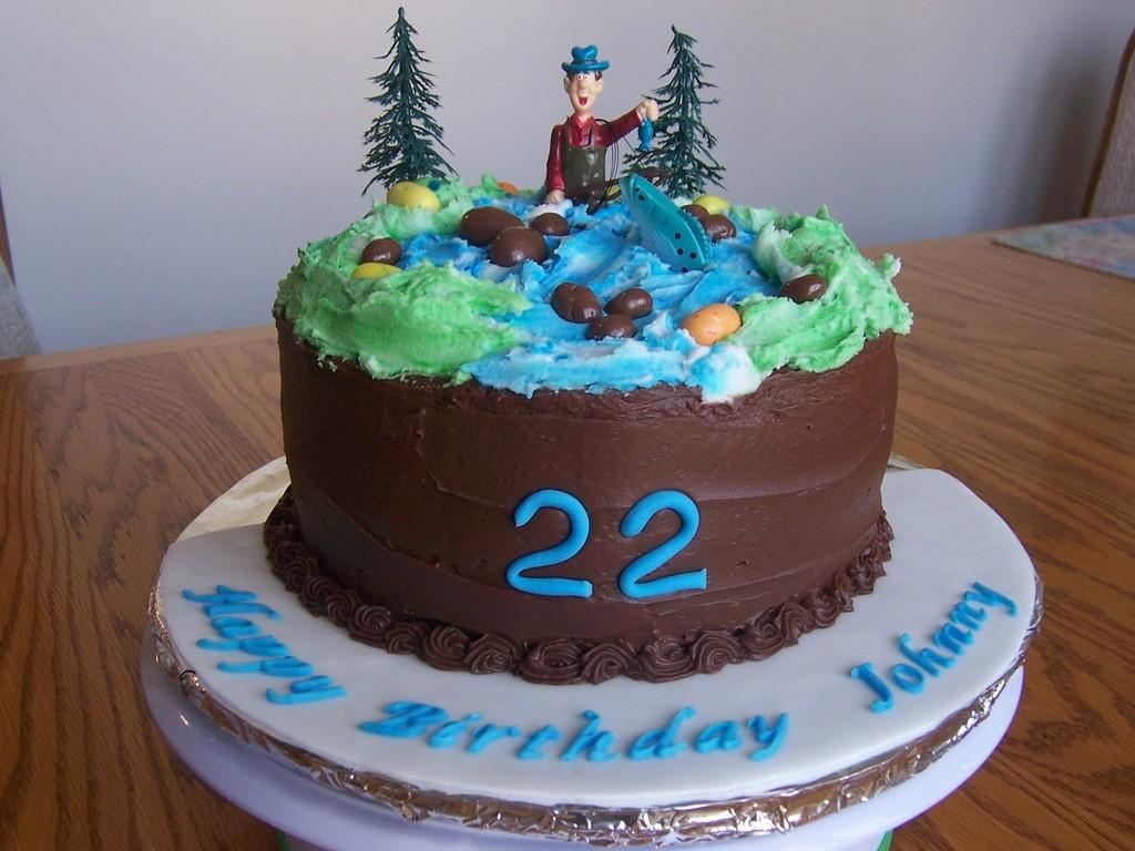 Astonishing Fly Fishing Birthday Cake Cakecentral Com Funny Birthday Cards Online Aboleapandamsfinfo
