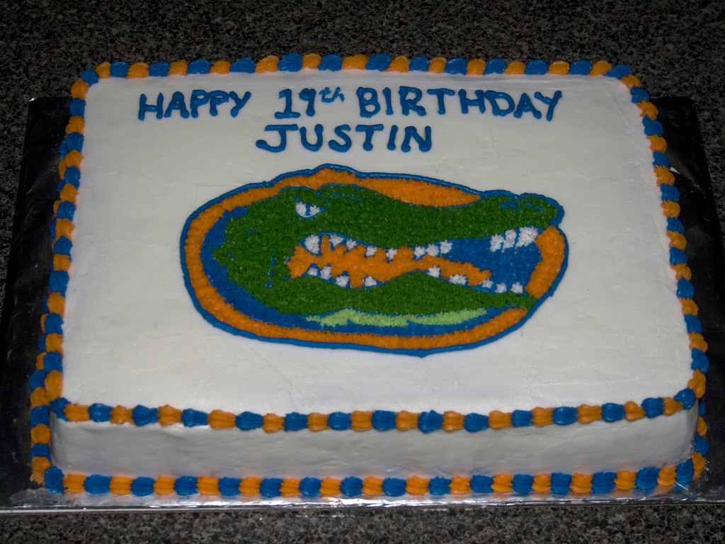 Fantastic Florda Gators Birthday Cake Cakecentral Com Personalised Birthday Cards Veneteletsinfo