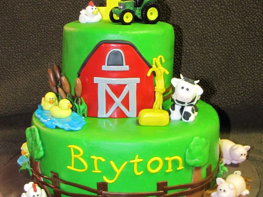 Stupendous John Deere First Birthday Cake Cakecentral Com Funny Birthday Cards Online Overcheapnameinfo