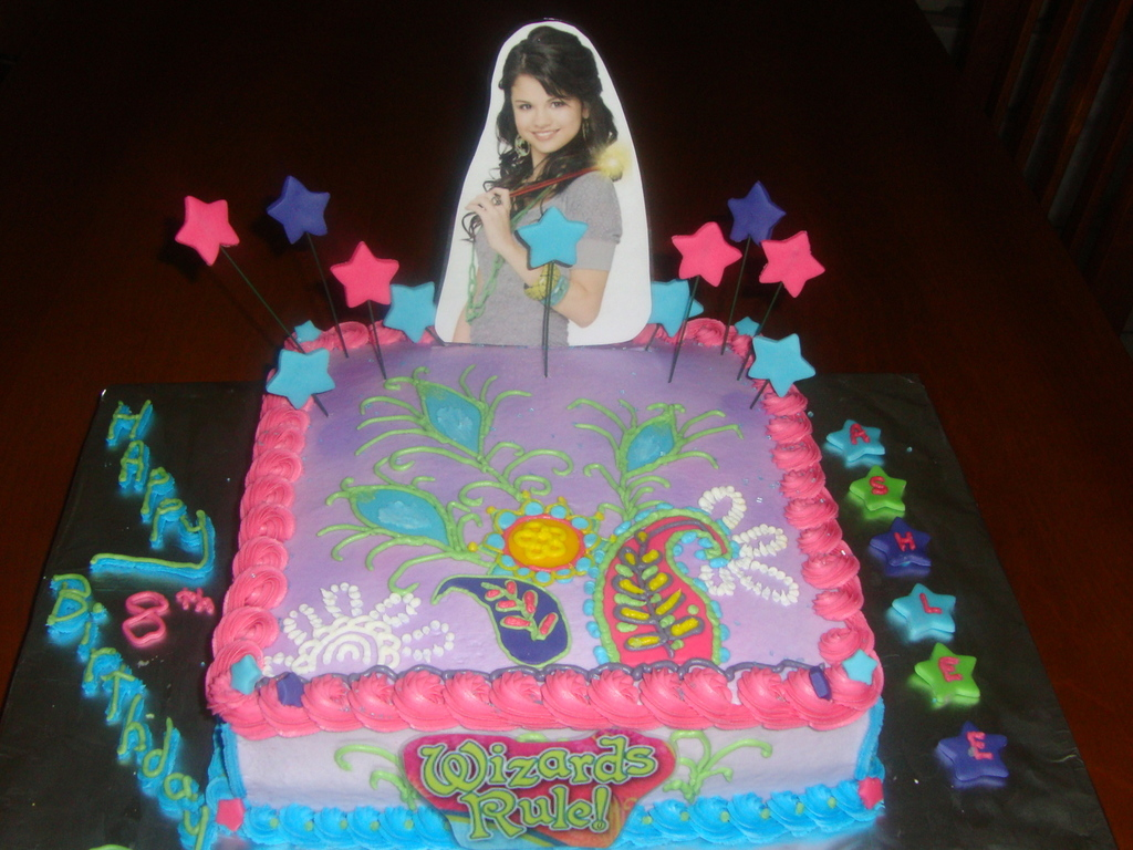 Wondrous Selena Gomez Wizards Of Waverly Place Birthday Cake Funny Birthday Cards Online Inifodamsfinfo
