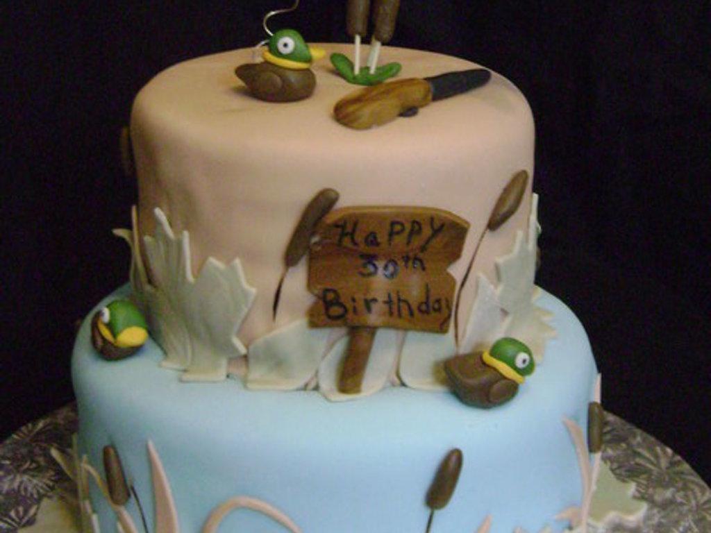 Duck Hunting Cake CakeCentralcom