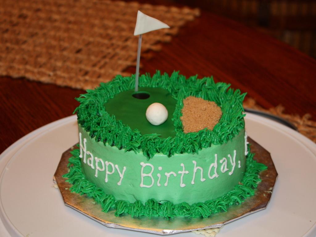 MiniGolf Birthday Cake CakeCentralcom