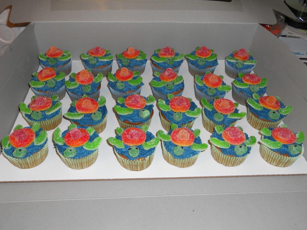 Sea Turtle Cupcakes CakeCentralcom