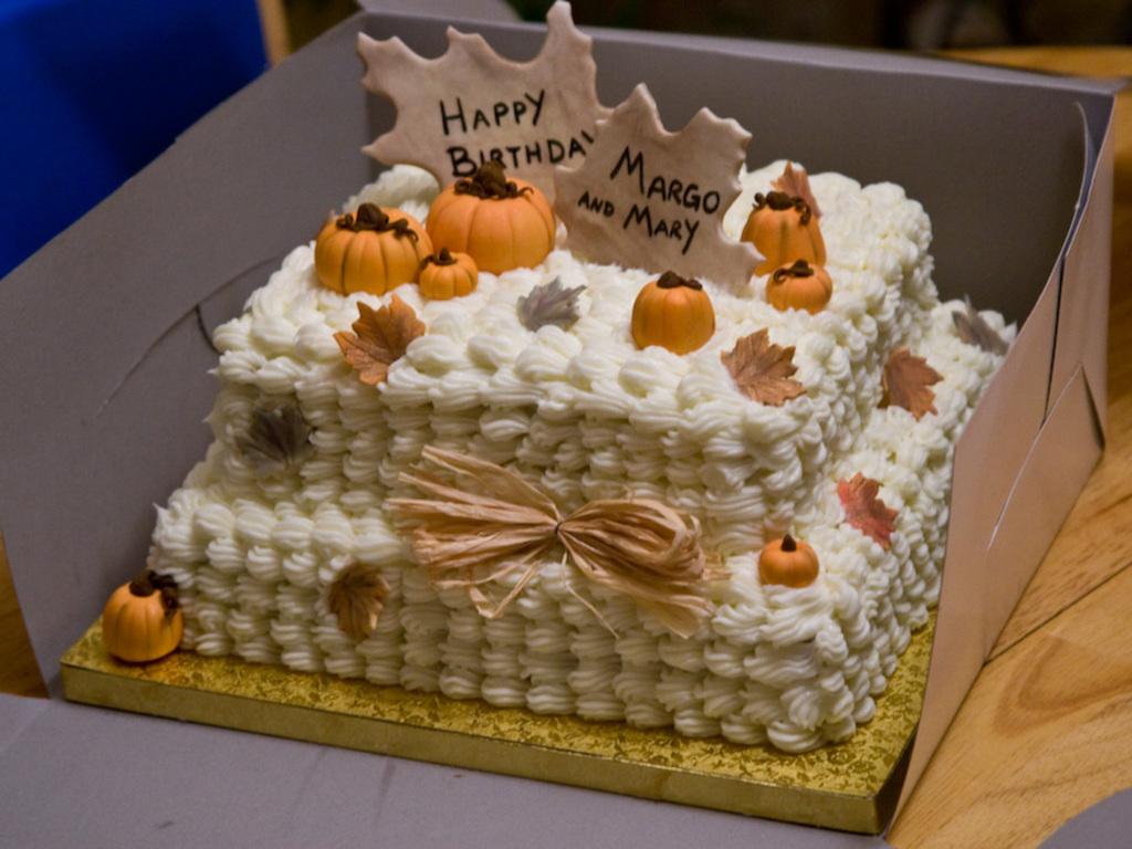 Autumn Birthday Cake CakeCentralcom
