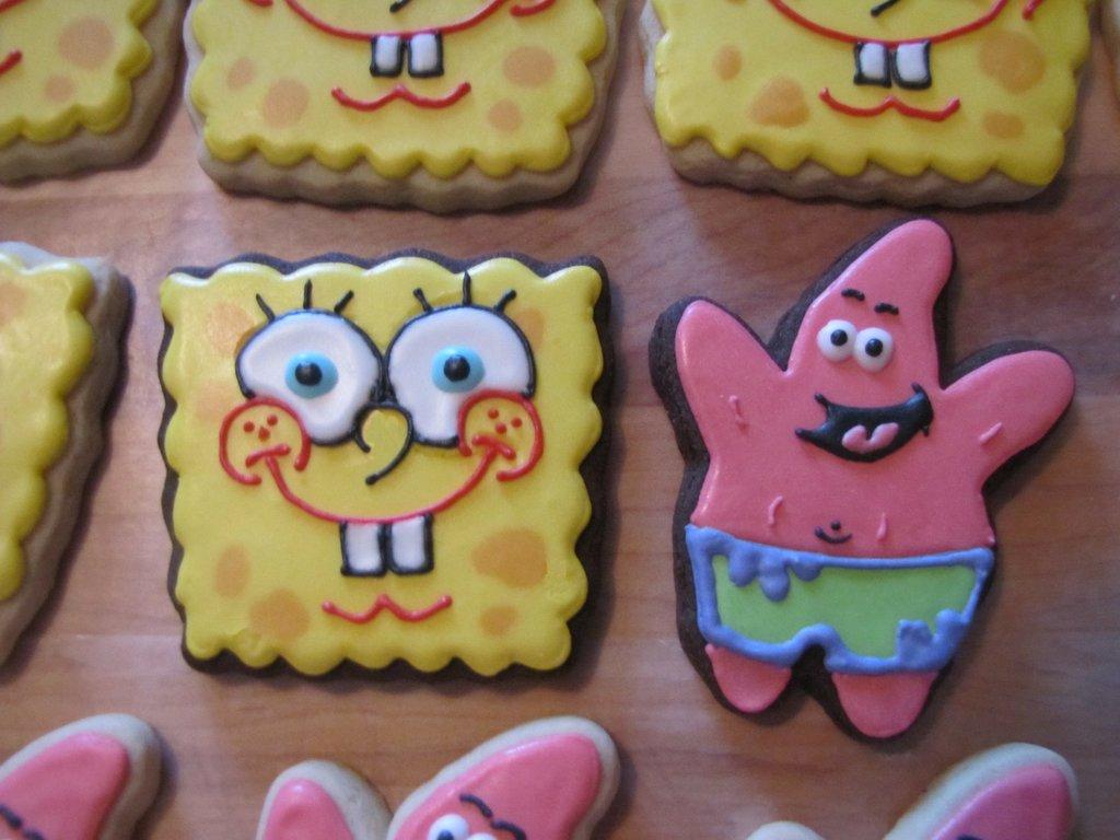 spongebob and patrick cookies cakecentral com