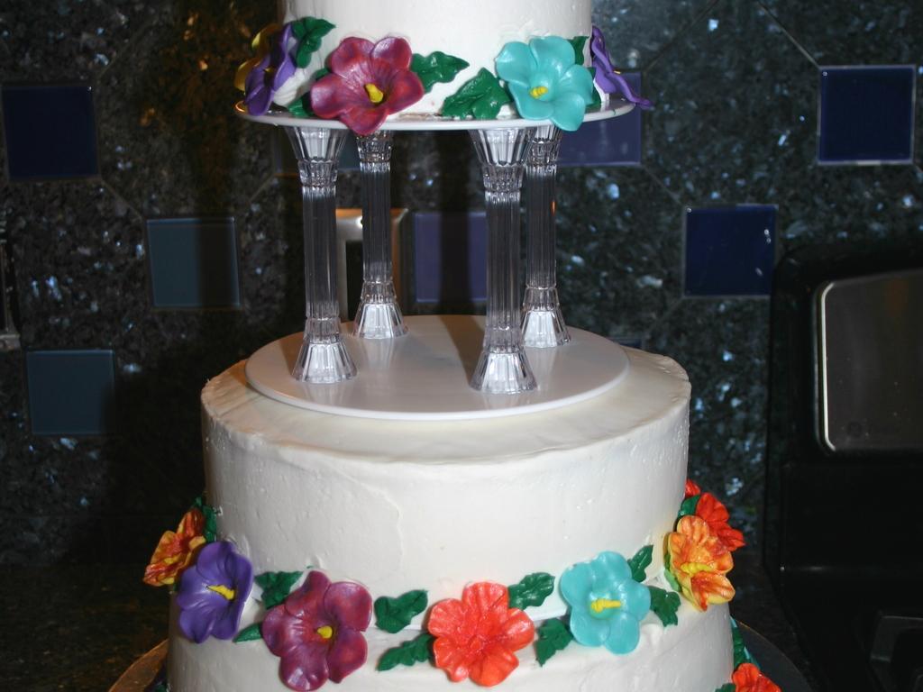 Hawaiian Luau Themed Wedding Cake Cakecentral