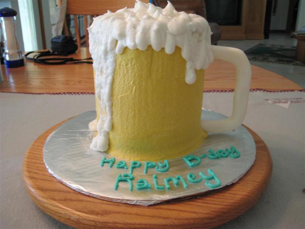 Awesome Beer Mug Birthday Cake Cakecentral Com Funny Birthday Cards Online Elaedamsfinfo