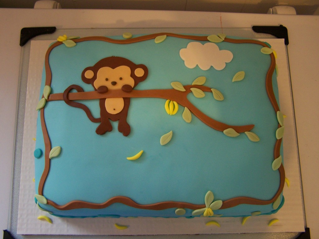pop monkey baby shower cake - cakecentral