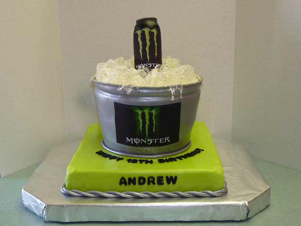 Super Monster Energy Drink Birthday Cake Cakecentral Com Personalised Birthday Cards Paralily Jamesorg